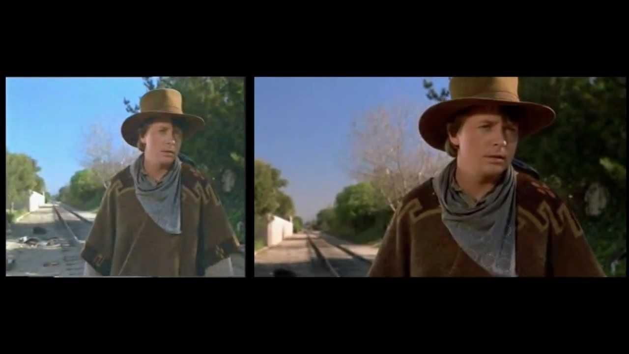 Back to the future 3 widescreen vs full screen youtube