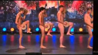 The Crisp bread dance (Naked Dance) from Sweden's got talent with english substitle