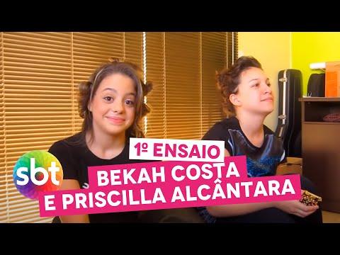 1º ENSAIO: Bekah Costa e Priscilla Alcântara - sbt