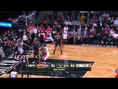 Miami Heat 95 - Brooklyn Nets 104 Full Highlights (01-10-2014)