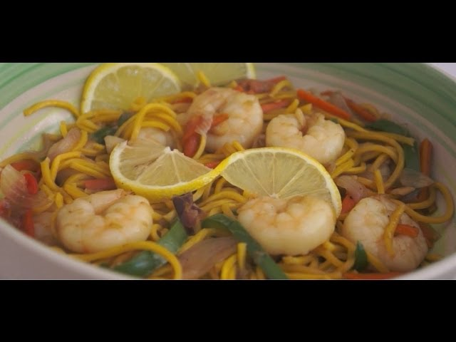 Canton Guisdo Recipe - Shrimp Noodle Prawn Tagalog Pinoy Filipino Cooking
