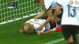 Bóng đá nữ vòng loại: Đức - Úc (bản F), Colombia - New Zealand (bản G)