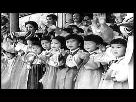 Anti-Communist Asia Meeting in Seoul, South Korea. HD Stock Footage