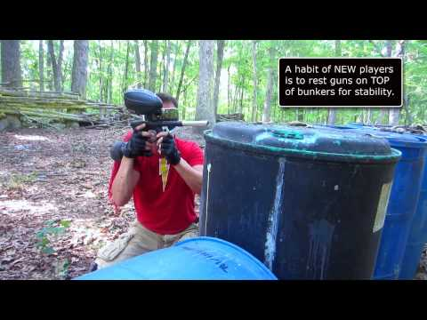 How To Play Paintball -  Beginner Tip: Do Not Post Over the Top of Bunkers