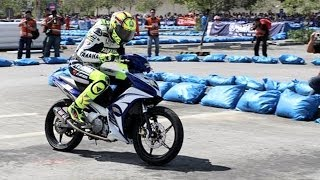 Valentino Rossi Race A Moped 135LC Sniper MX In Yamaha GP