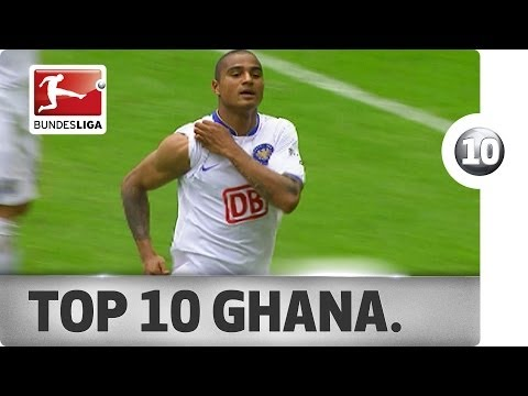 VIDEO: Watch 10 superb goals from Ghanaian super stars in the German Bundesliga