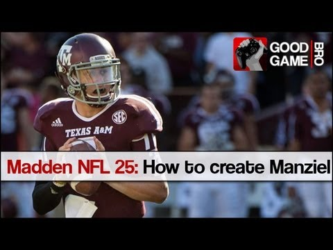 Madden nfl 25 how to create johnny manziel youtube