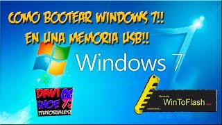 Como Bootear Windows 7 En Una Memoria Usb!! Bien Explicado