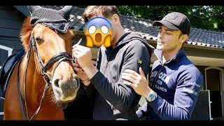 MY TWIN BROTHER TACKS UP MY HORSE (he had no idea)