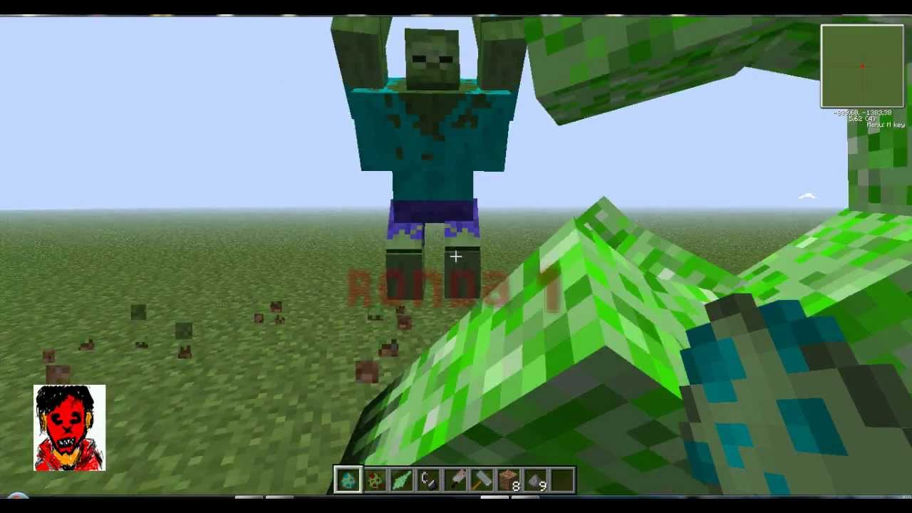 Mutant zombie vs mutant creeper youtube - Minecraft zombie vs creeper ...