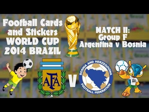 FOOTBALL CARDS & STICKERS WORLD CUP 2014 ☆ MATCH11 ARGENTINA v BOSNIA ☆ panini sticker packs opening