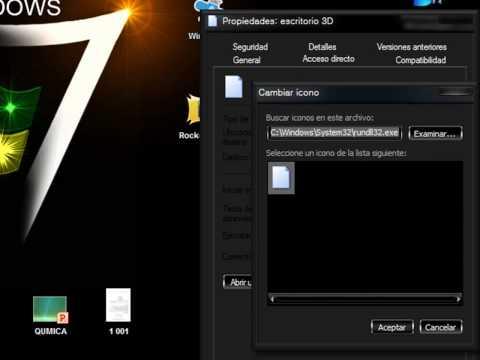 Como Poner el Escritorio 3d en Windows 7 Sin Usar Programa [Videotutorial]