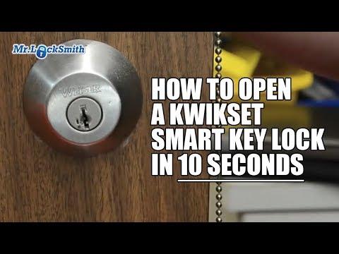 How To Open A Kwikset Smart Key Lock In 10 Seconds Video