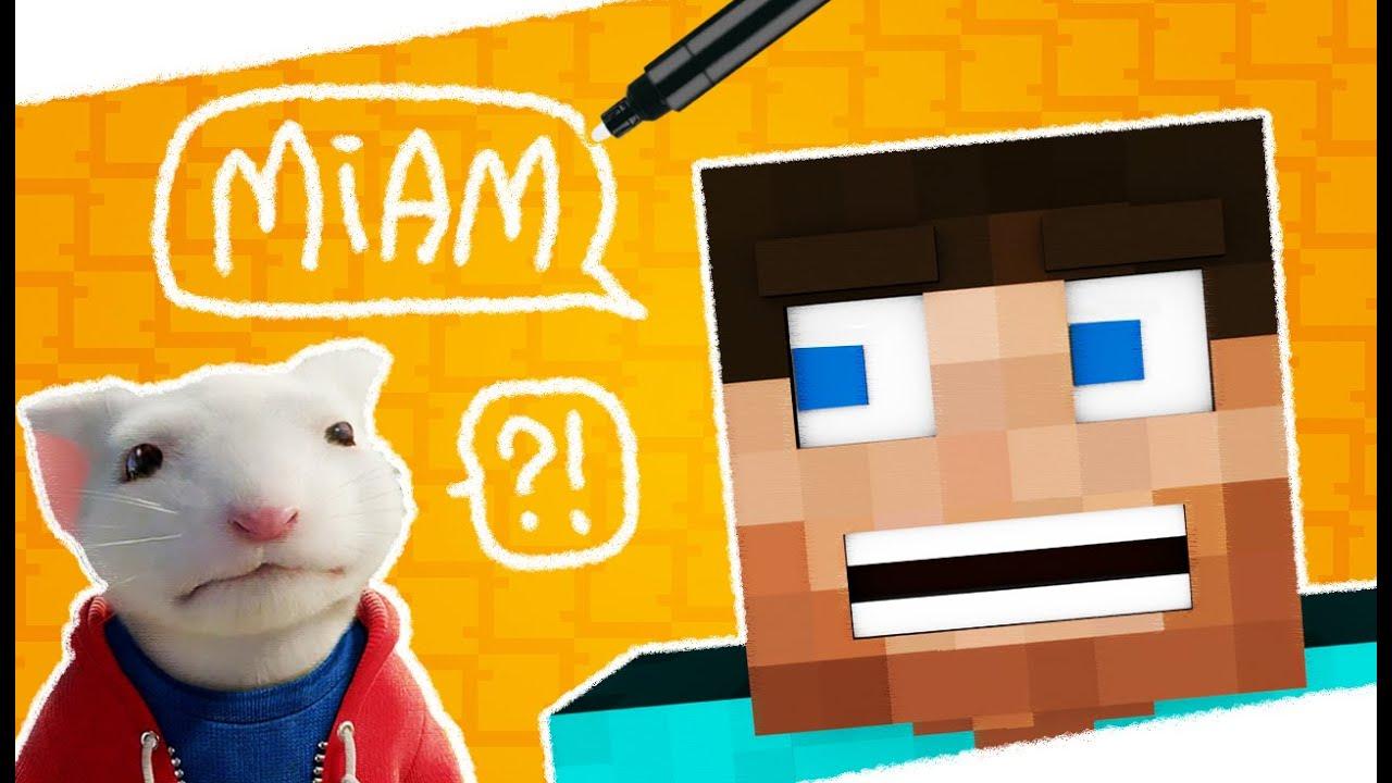 Dessiner un personnage Minecraft mangeant une souris myope