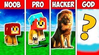 Minecraft NOOB vs PRO vs HACKER vs GOD : THE LION KING EVOLUTION in Minecraft | Animation