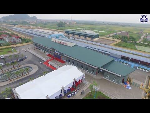 Toàn cảnh Nhà Ga Ninh Bình qua góc nhìn Flycam