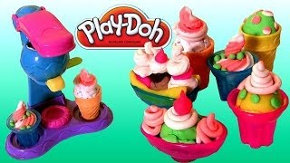 Play-Doh Double Treat Ice Cream Set Banana Split & Sundae