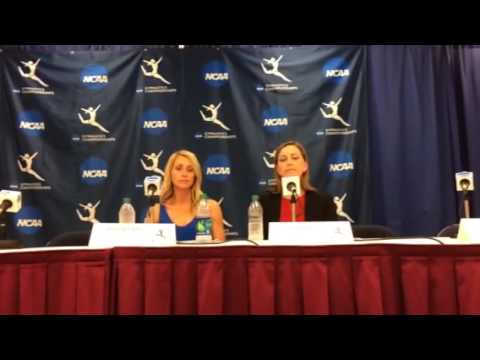Florida's Rhonda Faehn and Oklahoma's K.J. Kindler