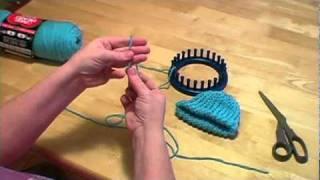 Knitting A Loom Hat With Pom Pom Part II