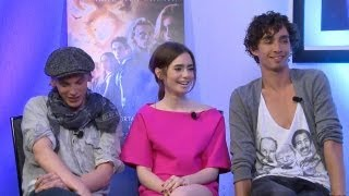 Jamie Campbell Bower, Lily Collins And Robert Sheehan