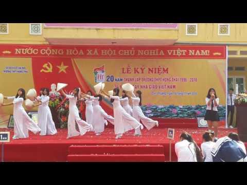 Hát múa: NGƯỜI THẦY- 12A1(2014-2017)-Trường THPT Hồng Thái(Đan Phượng-Hà Nội)