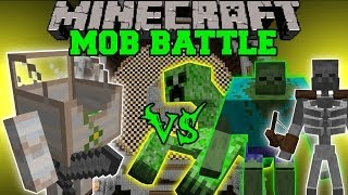 MECHA GOLEM VS MUTANT ZOMBIE, MUTANT CREEPER, & MUTANT