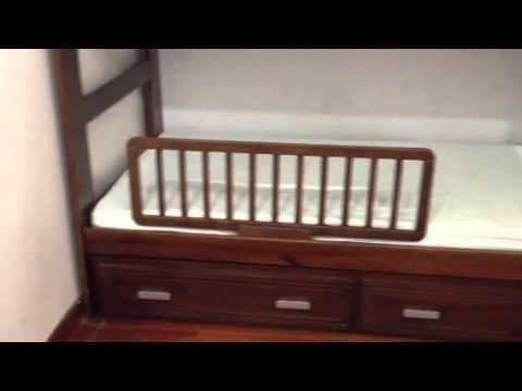 Chắn giường an toàn ráp vào giường tầng, giường người lớn