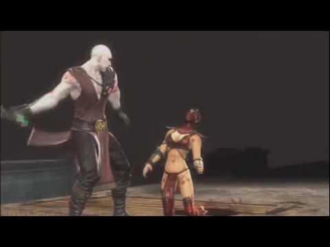 Mortal Kombat 9 Ryona Quan Chi on your knees Jade Sindel Skarlet Mileena Sonya Blade Kitana