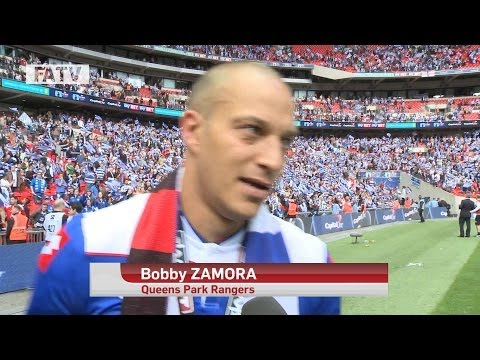 Play Off Final |  Zamora and Redknapp on pitch reaction