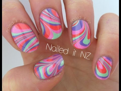 Water marble nail art - tips, tricks & a tutorial!