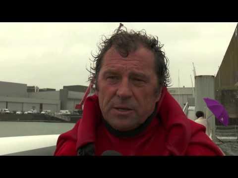 VIDÉO: Retour Maxi80 à Lorient après chavirage