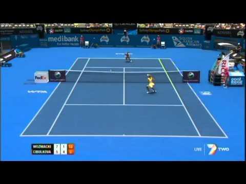 C. Wozniacki v D. Cibulkova Highlights Women's Singles Second Round: Sydney International 2012