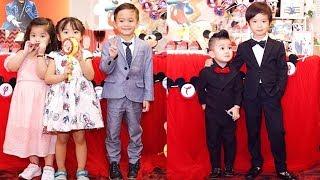 Con trai Lý Hải và Ngô Kiến Huy bảnh bao đi dự tiệc sinh nhật - TIN TỨC 24H TV