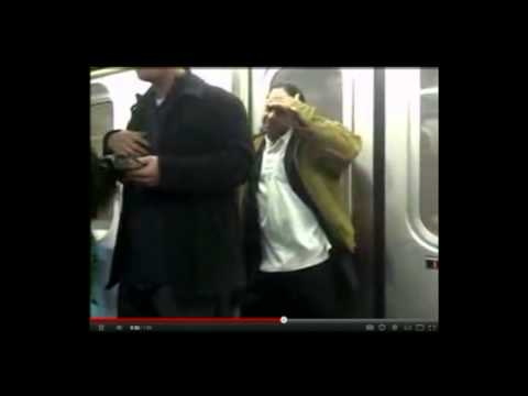 Fight on NYC 6 Train Stopped by Casual Potato Chip Guy