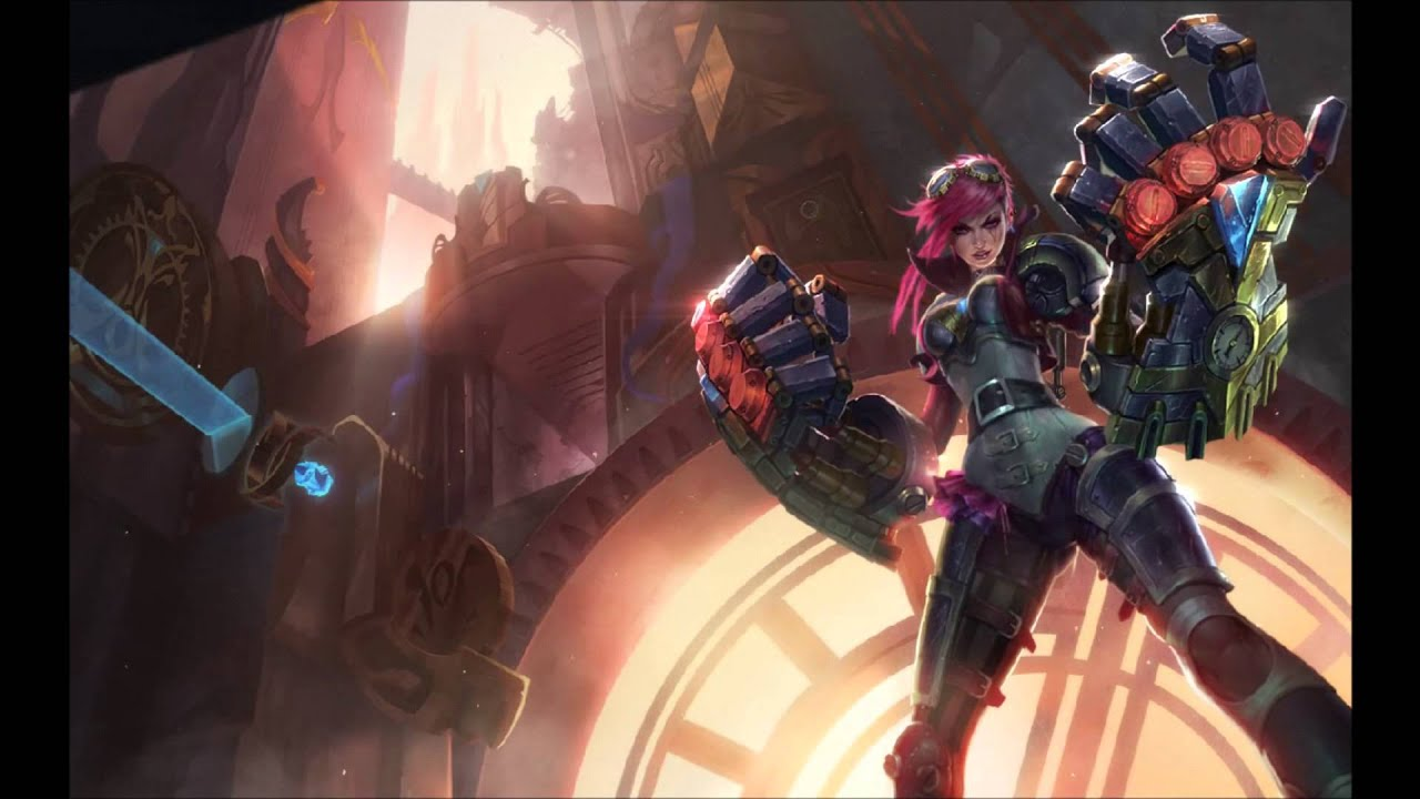 Vi the piltover enforcer login music video here comes vi youtube