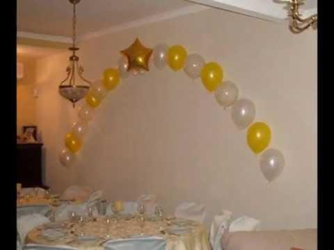 Como adornar con globos para primera comunión - Imagui