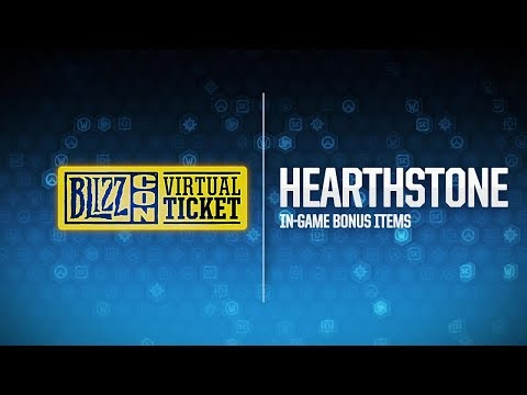 BlizzCon 2018 Virtual Ticket - Hearthstone: In-Game Item Reveal