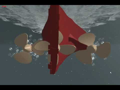 R.M.S. Titanic for Virtual Sailor - WIP - Propeller Test