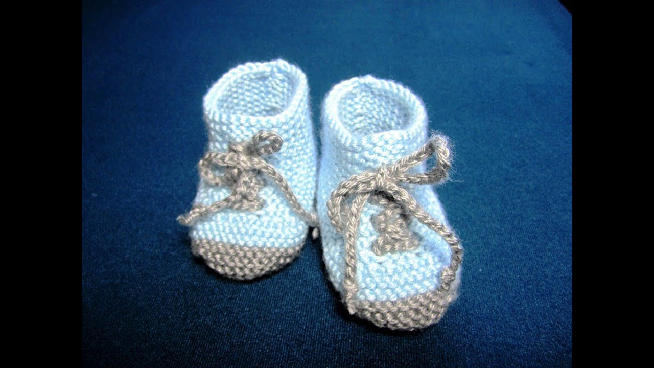 How to Knit Baby Booties Shoes Part - 2 - YouTube