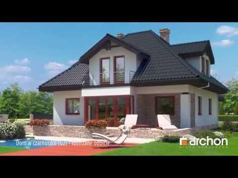 Dom w czarnuszce (G2) lustrzane odbicie. Wirtualny spacer po wnętrzu. Projekt ARCHON+
