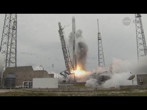 Blast off: Space-X rocket heads up to International Space Station