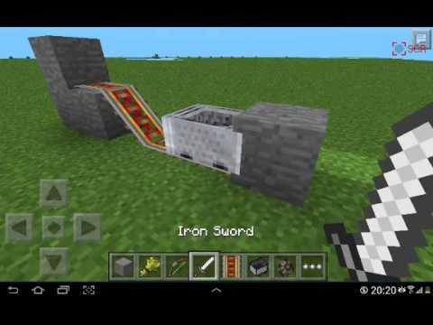 Видео как сделать машину в minecraft pe 0 8 0