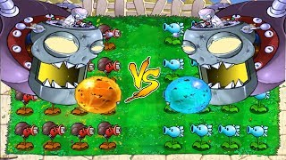 Plants vs Zombies : Dr. Zomboss FIRE  vs Dr. Zomboss ICE