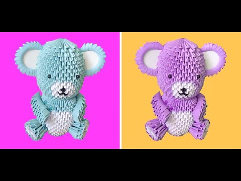 How to Make a 3D Origami Bear