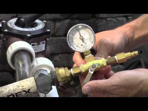Air pressure test plumbing