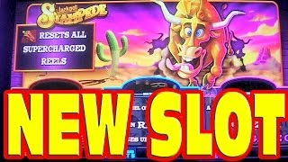 Jackpot Stampede NEW SLOT MACHINE Bonus + Live Play