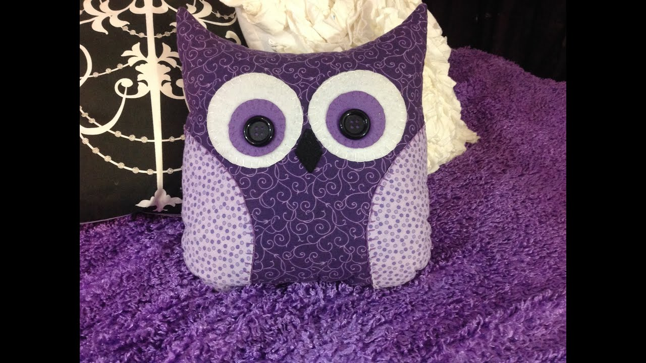 Free Crochet Owl Cushion Pillow Pattern : DIY OWL Pillow - YouTube