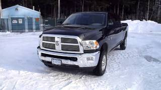 2010 dodge ram 2500 mega cab straight piped, with alpine pdx m12 and 2 12'' type r subs videos