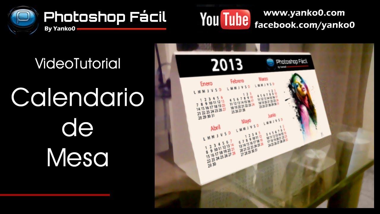 Calendario de Mesa Videotutorial Photoshop by @yanko0
