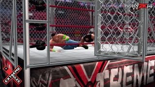 WWE Extreme Rules 2014 John Cena Vs Bray Wyatt Steel
